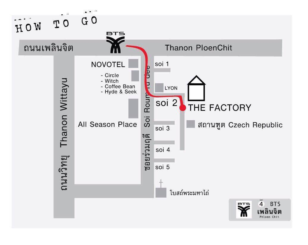 The Factory Studio Map